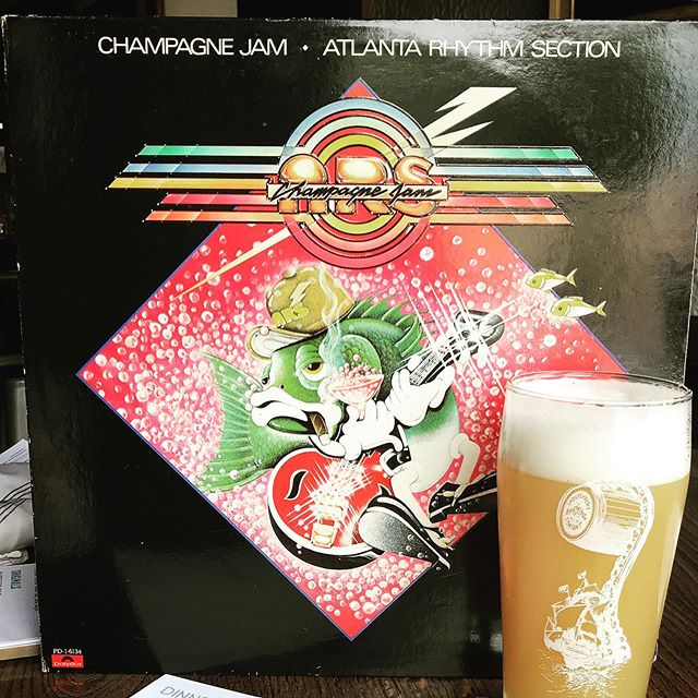 Oh, we're jamming.  @dancinggnome Citra Jam on tap and tasting delicious.  Champagne Jam?  Well, we'll save you the listen, but the cover is sick.