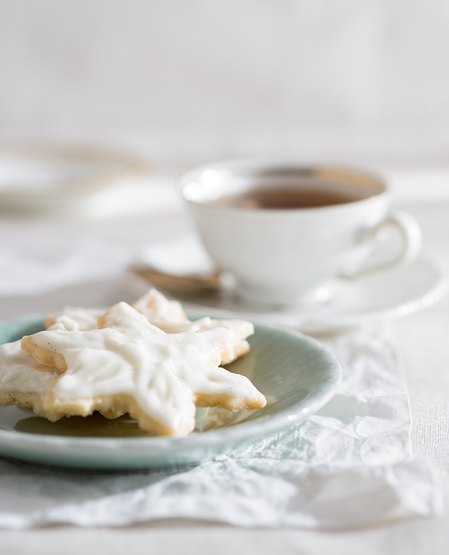 Snowflake Cookies Food Stock Photo