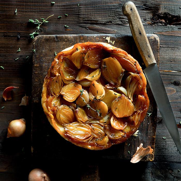 Shallot Tarte Tatin Food Stock Photo