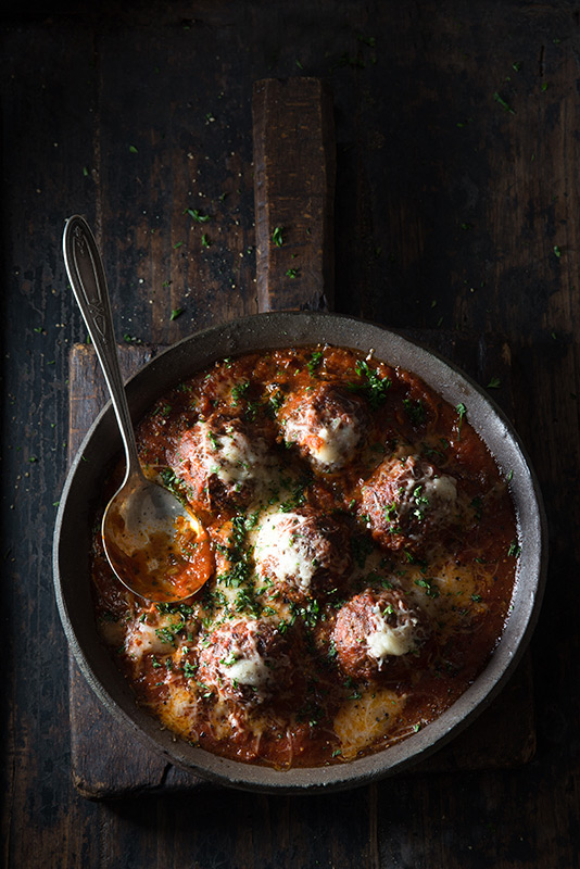 Meatballs with Tomato Sauce Food Stock Photo