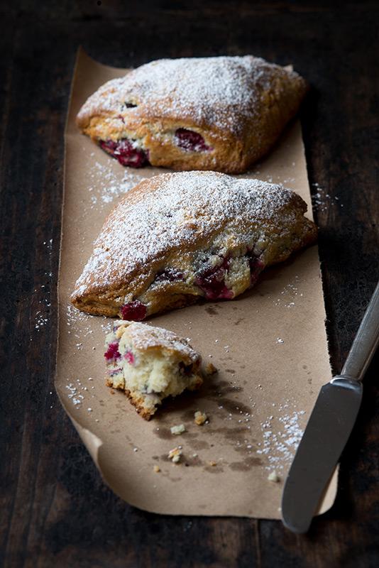 Cranberry Scones Food Stock Photo
