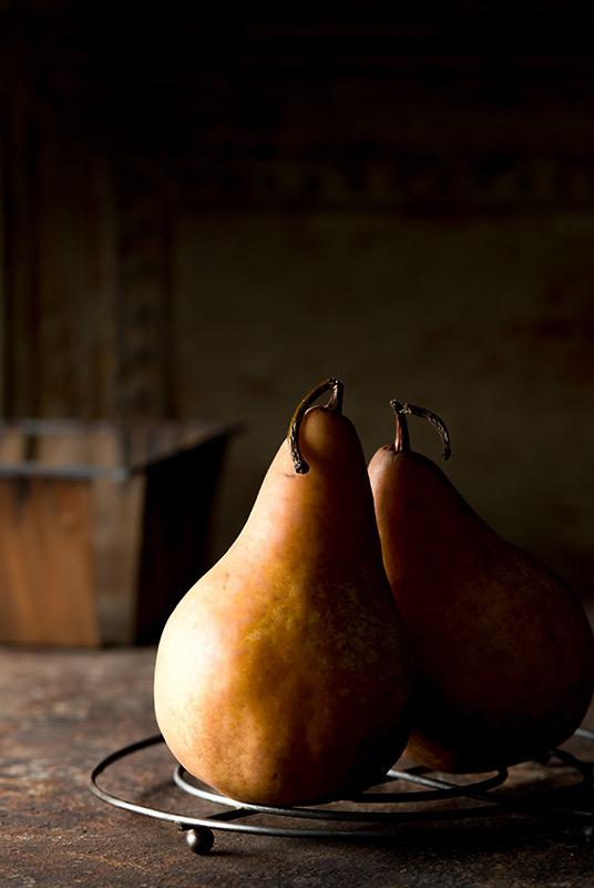 Fresh Bosc Pears Food Stock Photo