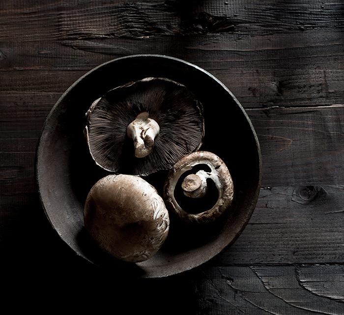 Portobello Mushrooms Food Stock Photo