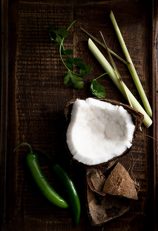 Thai Curry Ingredients Food Stock Photo