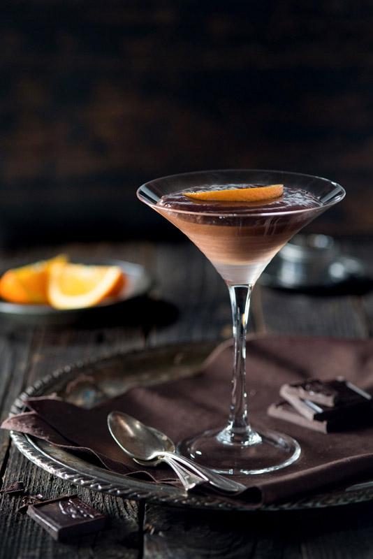 Chocolate Orange Mousse Food Stock Photo