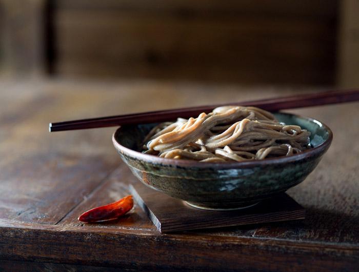 Cold Sesame Noodles Food Stock Photo