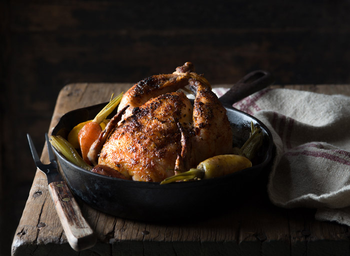 Roasted Cornish Game Hen Food Stock Photo