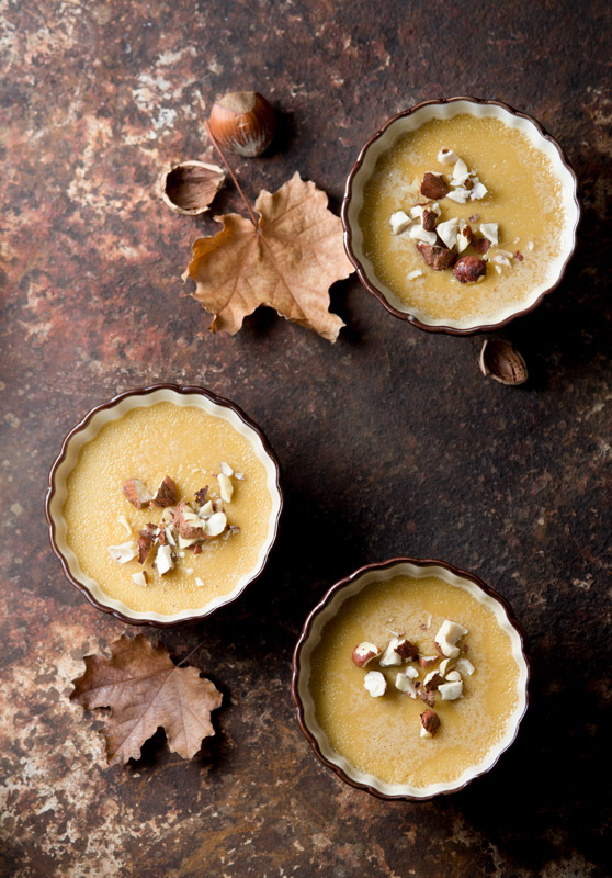 Maple Hazelnut Custard Food Stock Photo