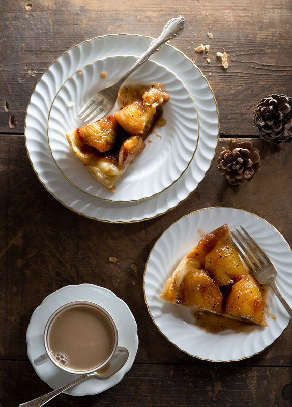 Chai–Spiced Apple Tarte Tatin Stock Food Photo