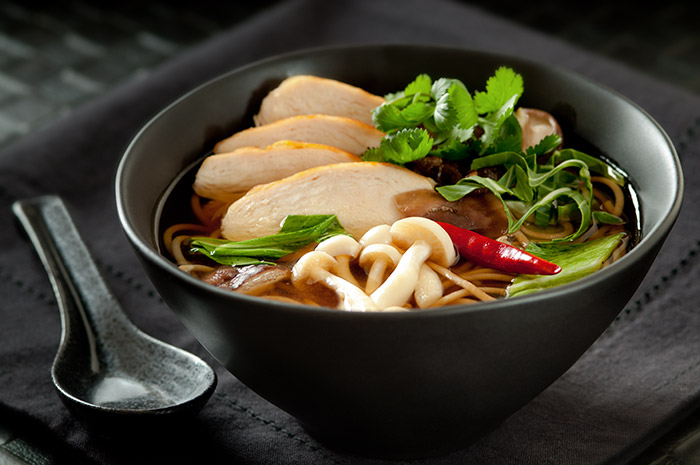 Thai Chicken Noodle Soup Stock Food Photo
