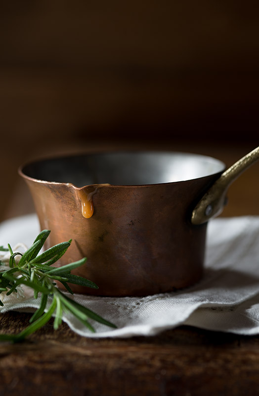 Rosemary Caramel Sauce Stock Food Photo