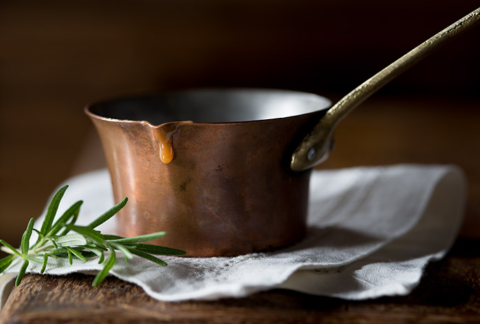 Rosemary Caramel Sauce Food Stock Photo