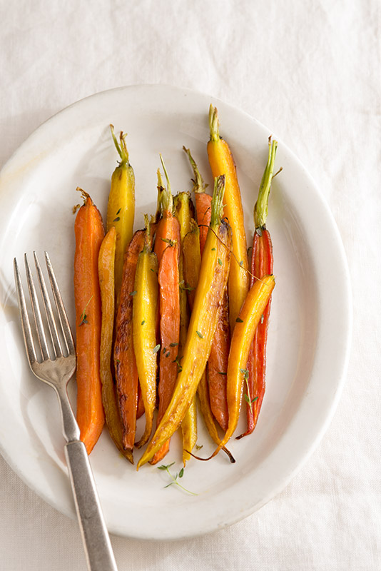 Roasted Carrots with Thyme Stock Food Photo