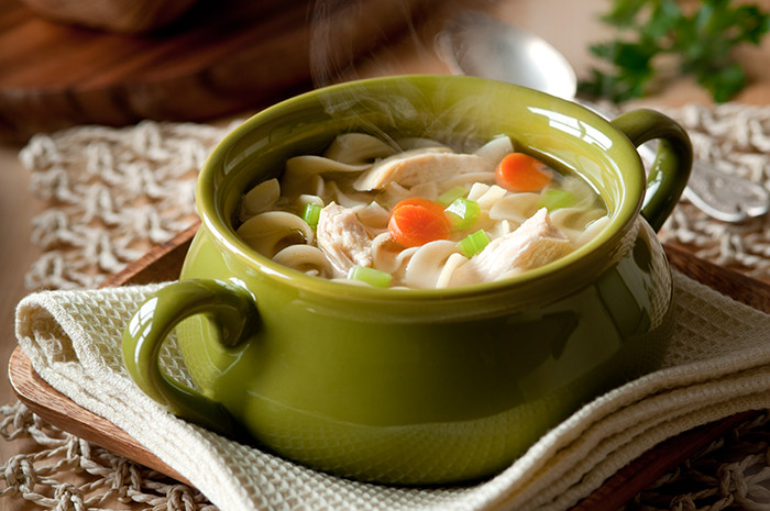 Chicken Noodle Soup Stock Food Photo