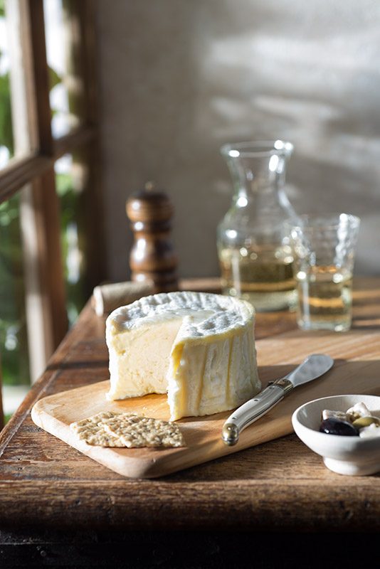 Wine and Cheese Still Life Stock Food Photo