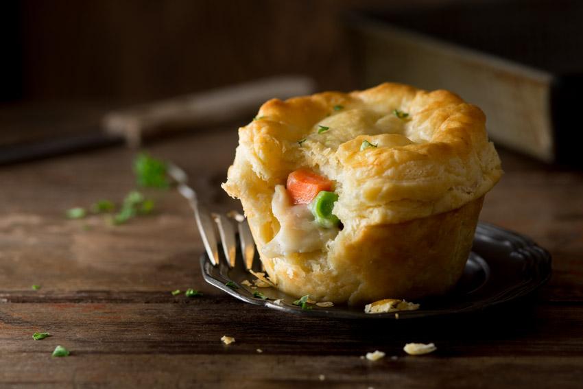 Chicken Pot Pie Stock Food Photo