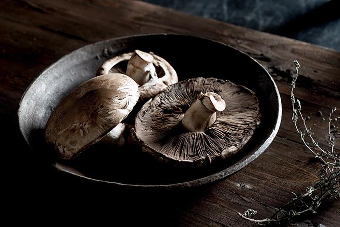 Portobello Mushrooms Stock Food Photo
