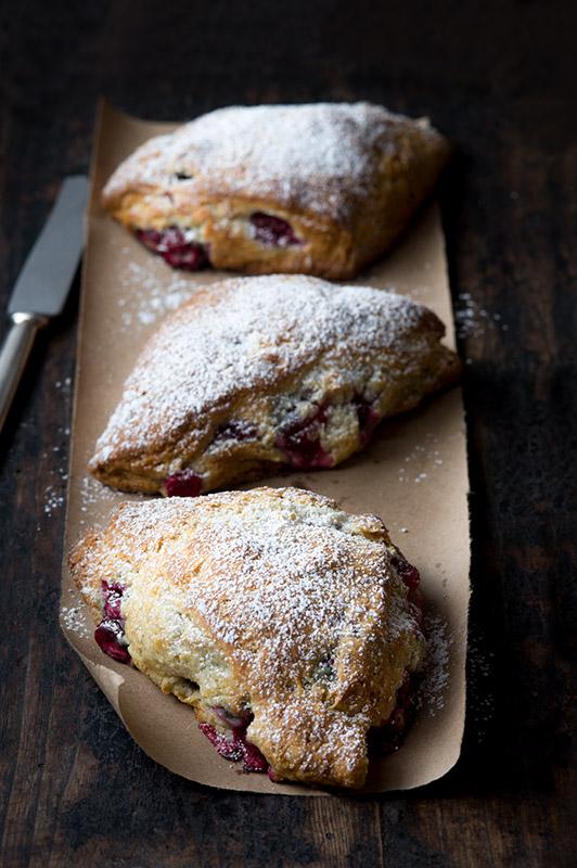 Three Cranberry Scones Food Stock Photo