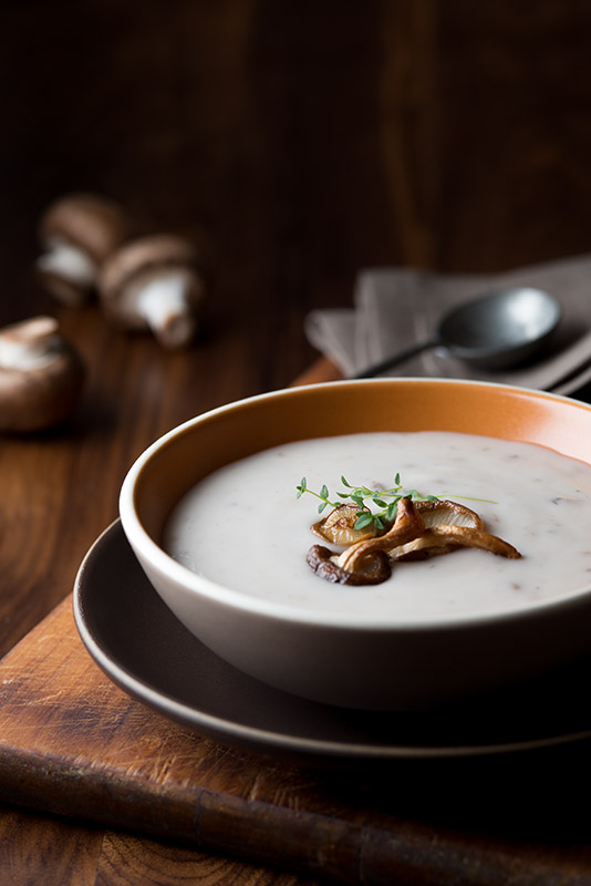 Cream of Mushroom Soup Stock Food Photo