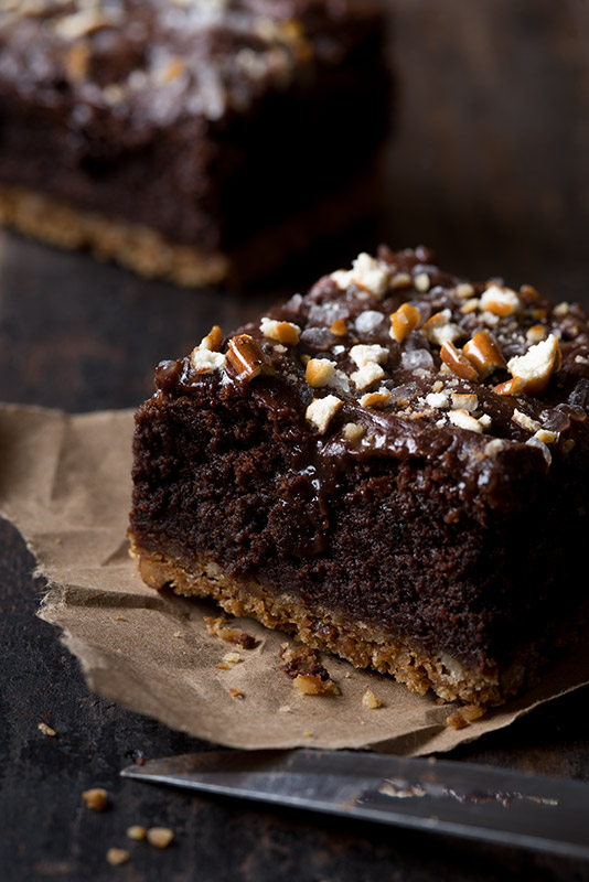 Chocolate Brownies Stock Food Photo