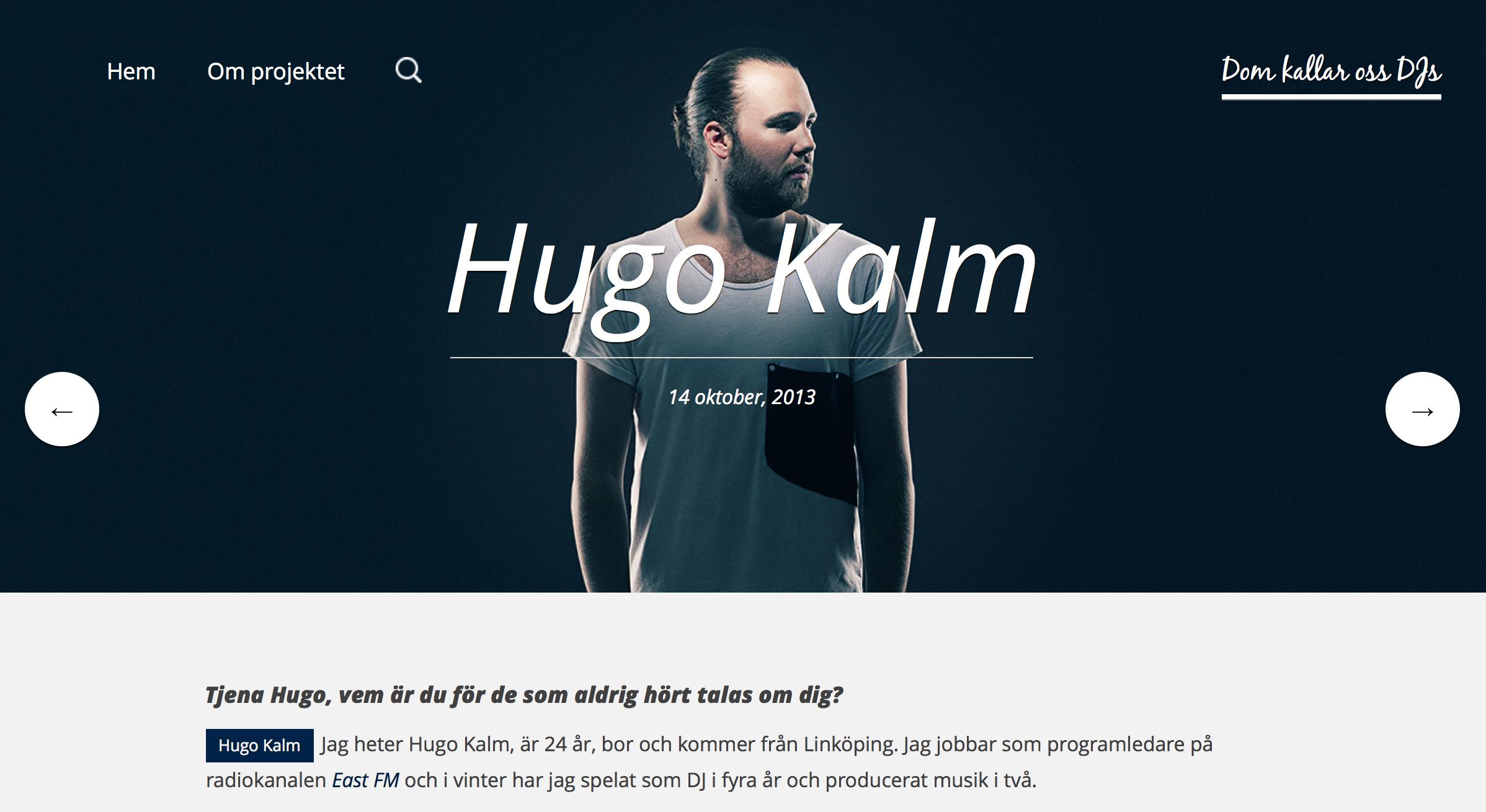 """Interview on website """"Dom Kallar Oss DJs"""""""