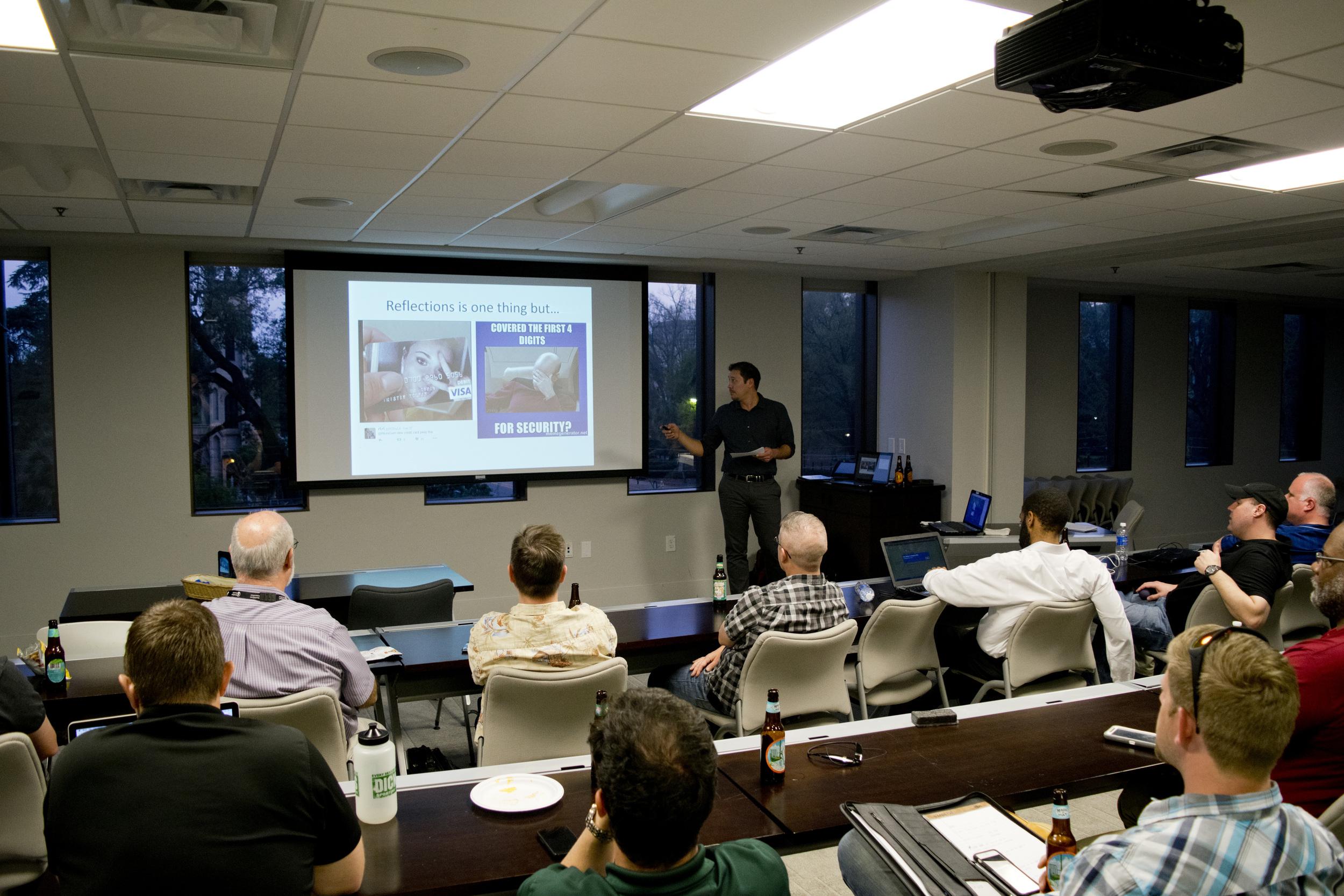 Josh Huff presenting at ColaSec - March 2016