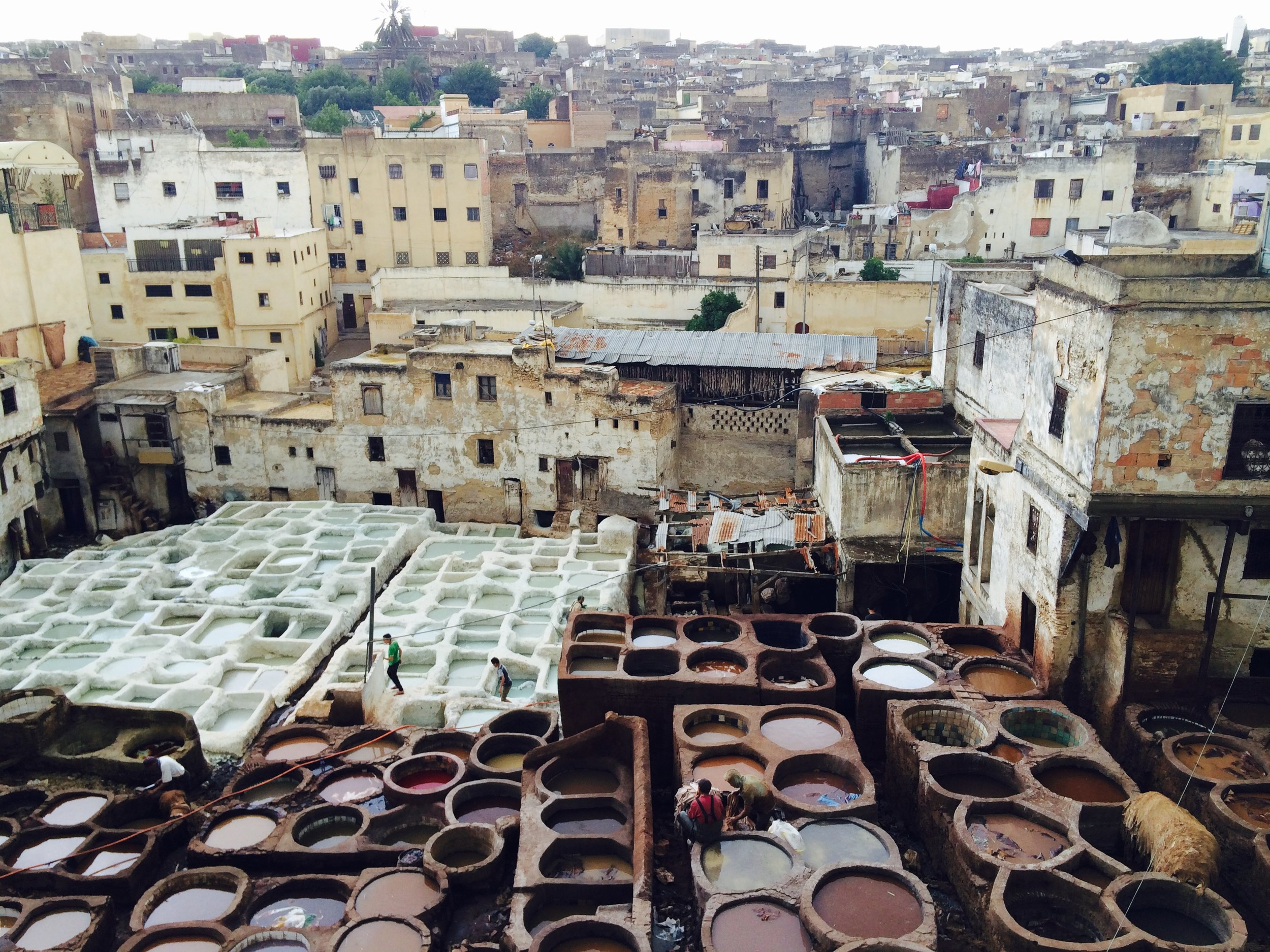 The Chouara Tannery on Fes, Morocco