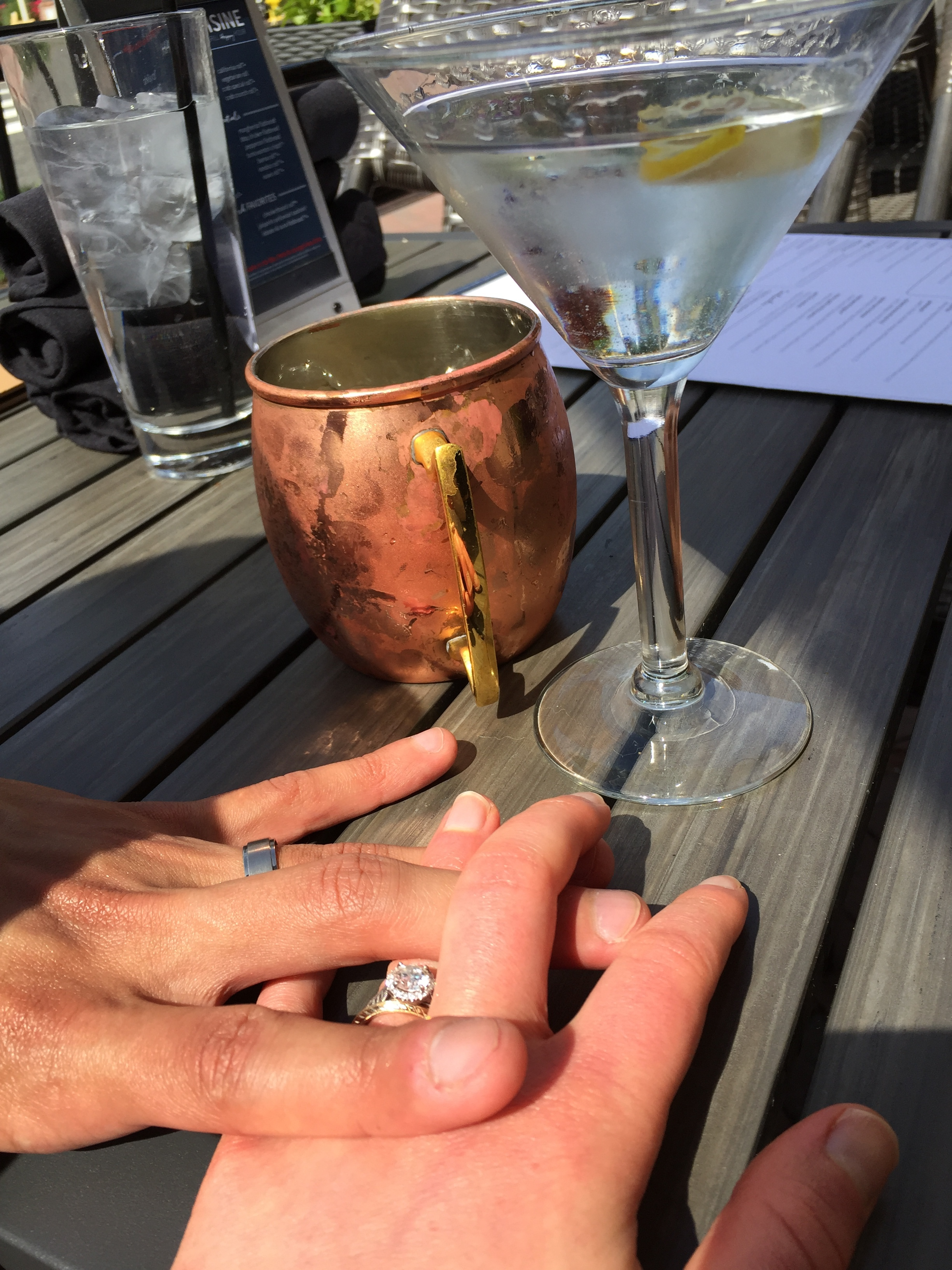 Drinks and rings