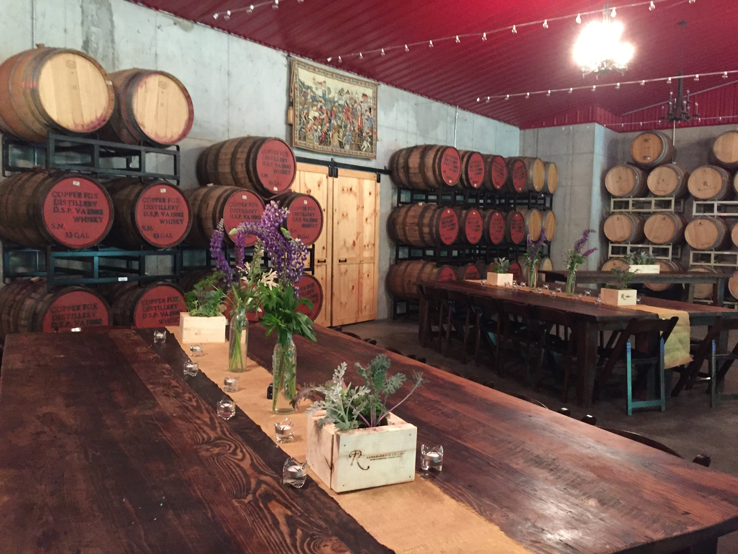 The Barrel Room looked rustic and lovely