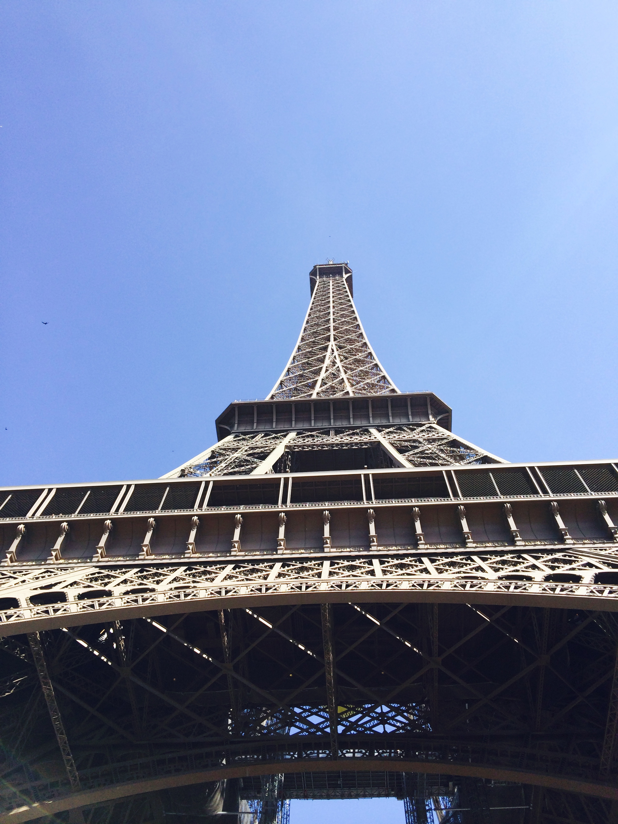 A view from below the Eiffel Tower