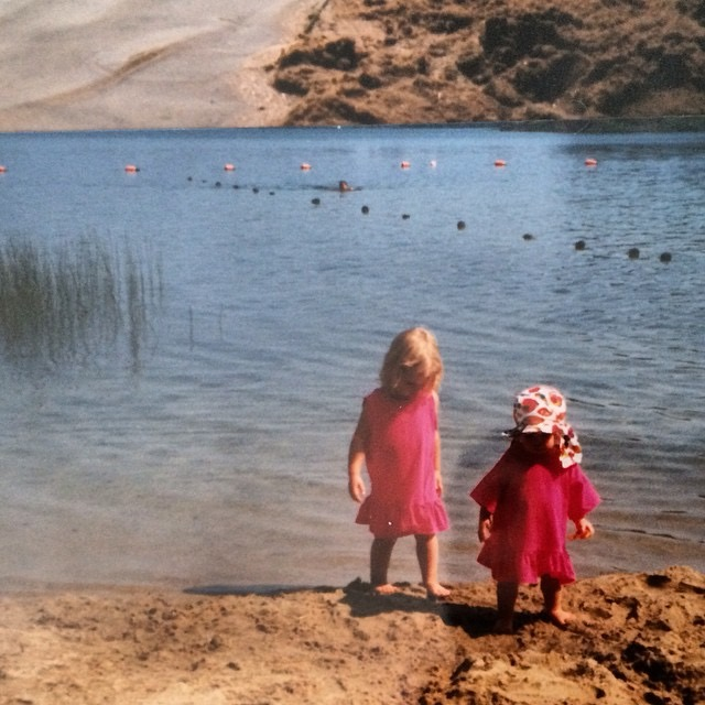 Me and Emily during swimming lessons at Wiley Pond