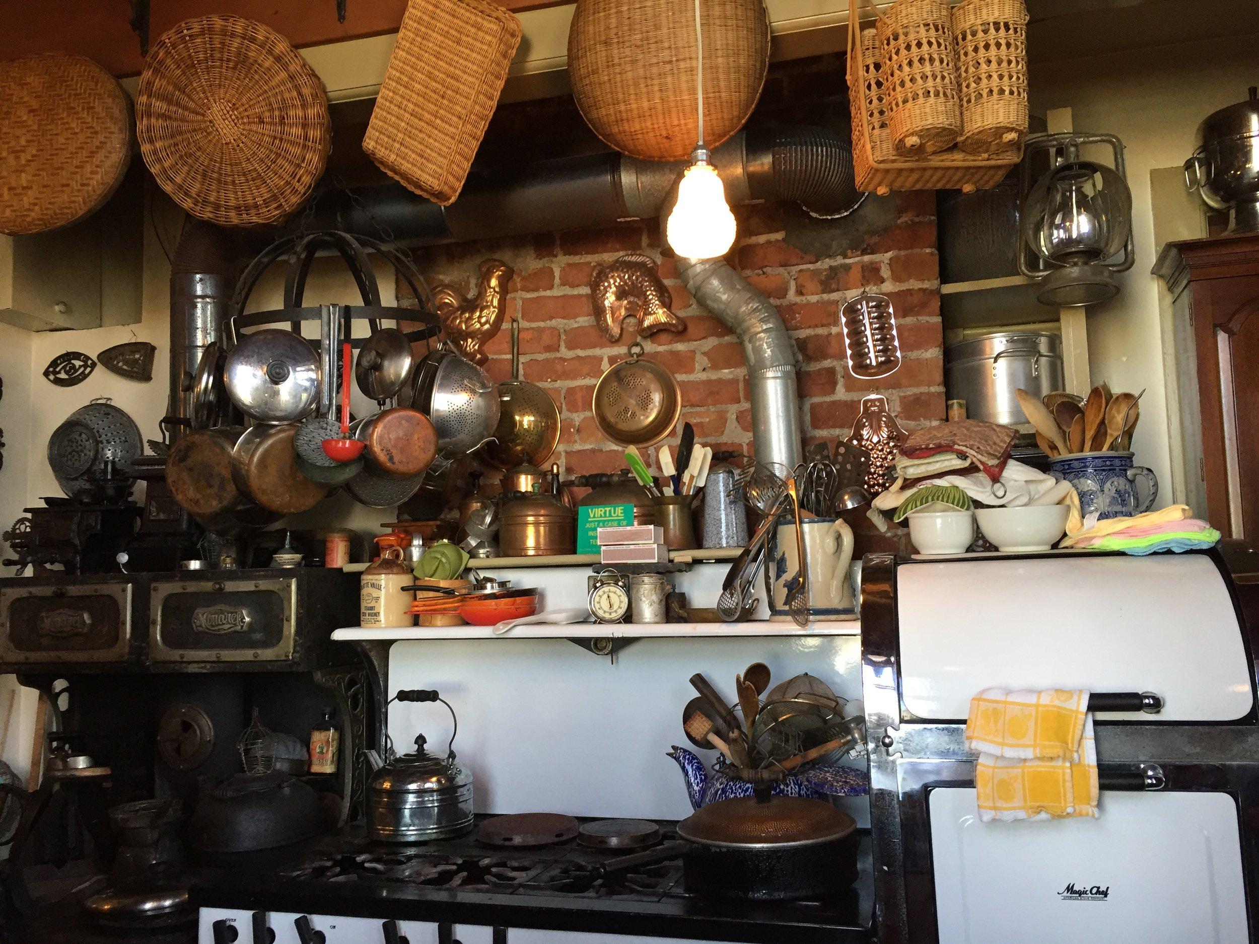 Kitchen in The Brune Reutlinger House