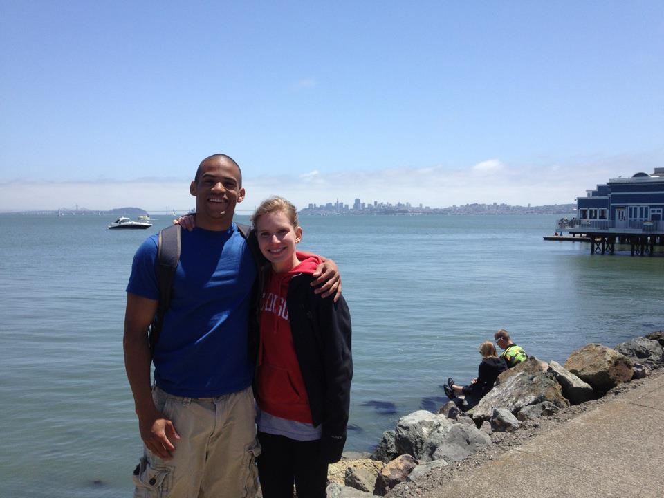 Biking over the Golden Gate Bridge, May 2012