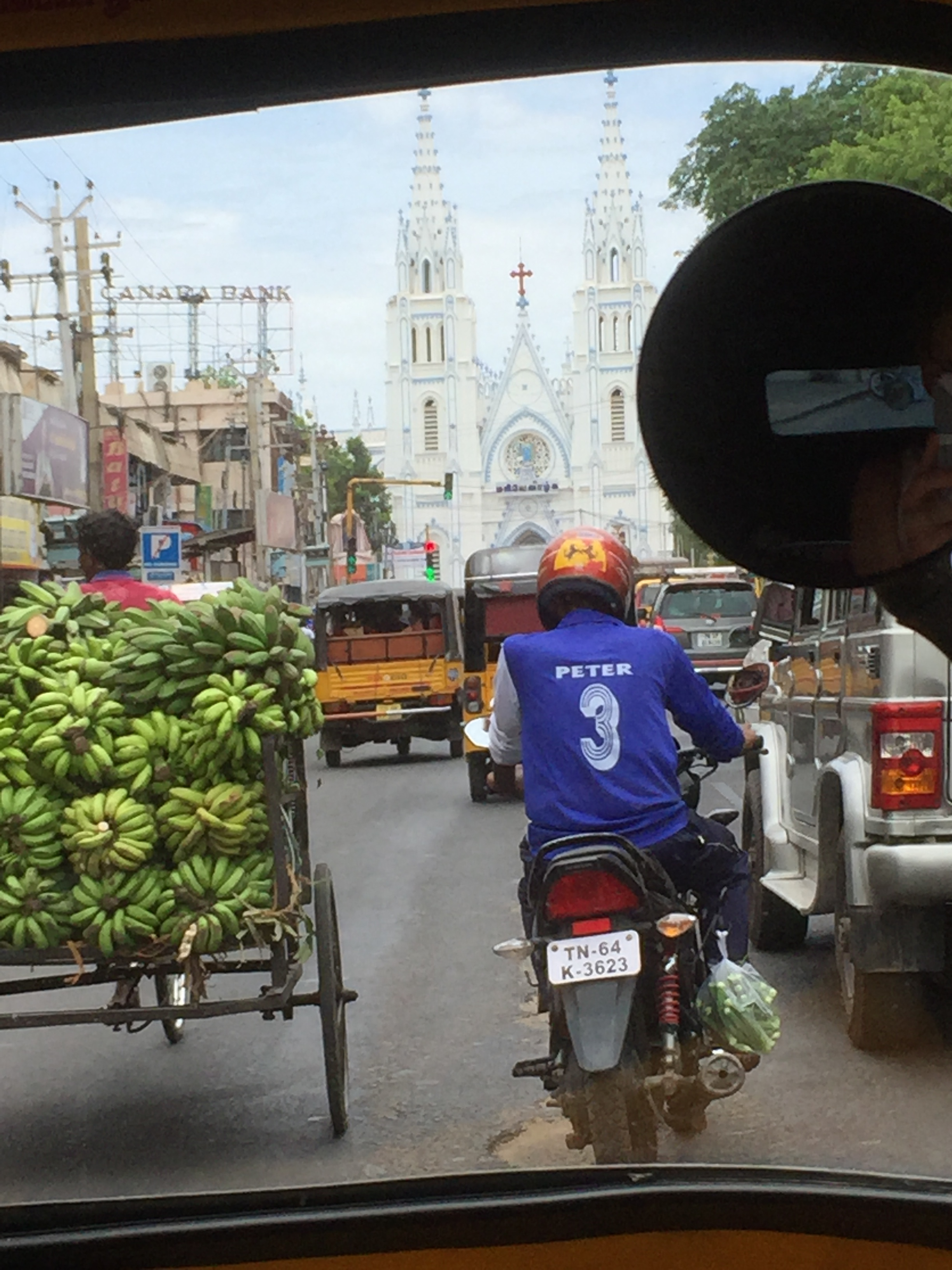 View of the Cathedral from our rickshaw