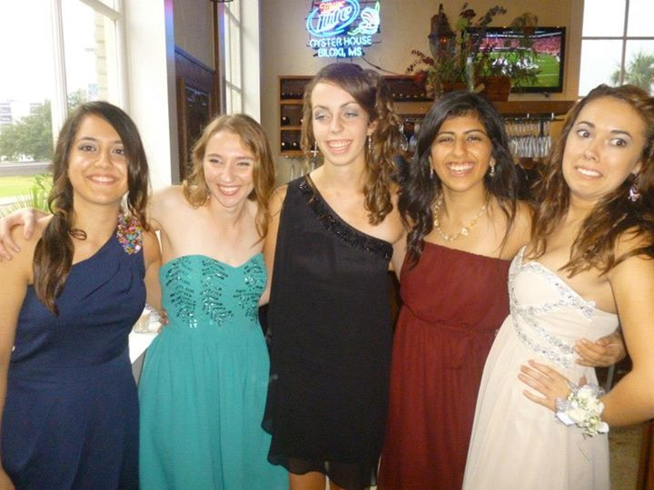 Homecoming with my friends. (We still keep in                            contact to this day!)