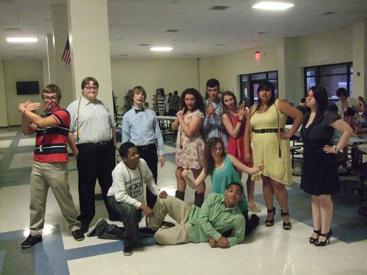 Some of theseniors of our theatre group in 2013