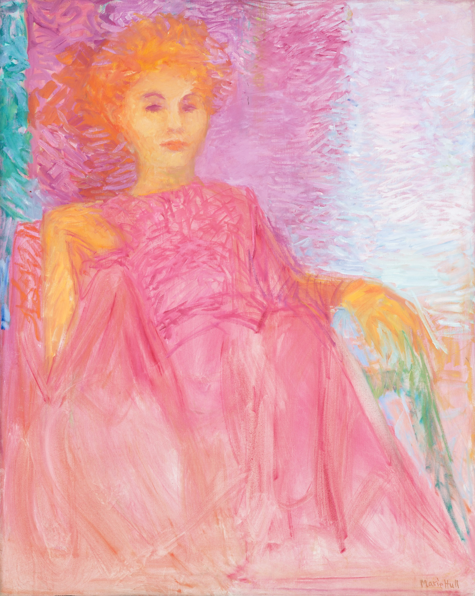 Marie Hull (1890-1980), The Pink Lady, 1967. oil on canvas. Collection of Mississippi Museum of Art. Gift of the artist.