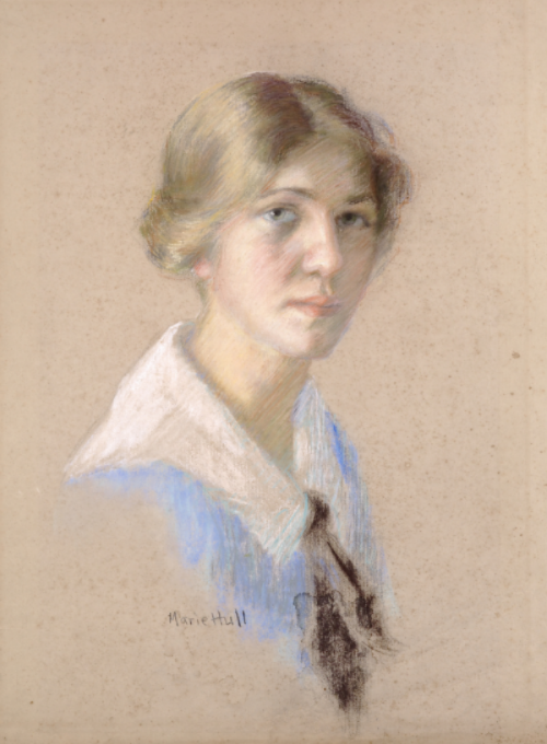 Marie Hull (1890-1980), Self-Portrait, no date. pastel on paper.  Collection of the                                                                                   Mississippi Museum of  Art.  Anonymous gift.