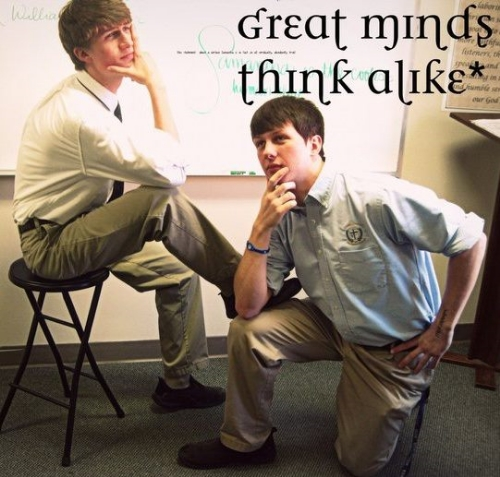 Me and my best friend Chris goofing off in high school