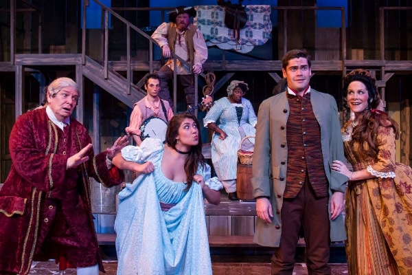 A scene from their most recent show,  The Robber Bridegroom