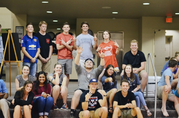 Some of your future classmates getting to know one another at the first orientation of the summer!                           Photo courtesy of Mississippi College
