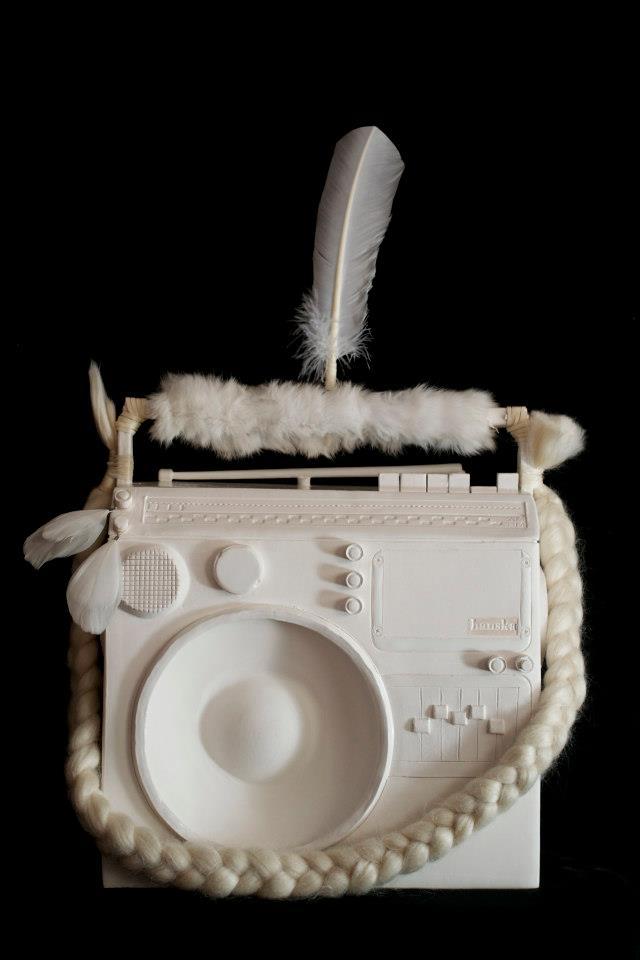 Stereotype: The Stefani. Ceramic/Mixed Media. Cannupa Hanska