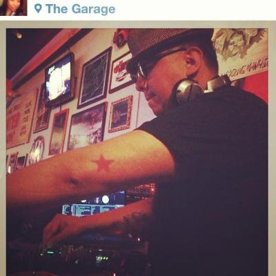 "DJ Were Wulf holds it down at ""The Garage"" in Norman, OK."