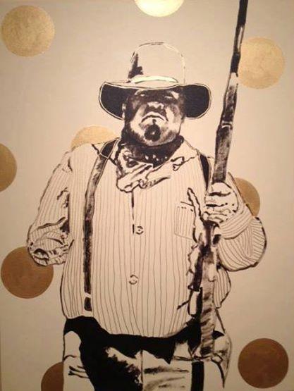 """Harper The Farmer"" . FBH   M/M on canvas"