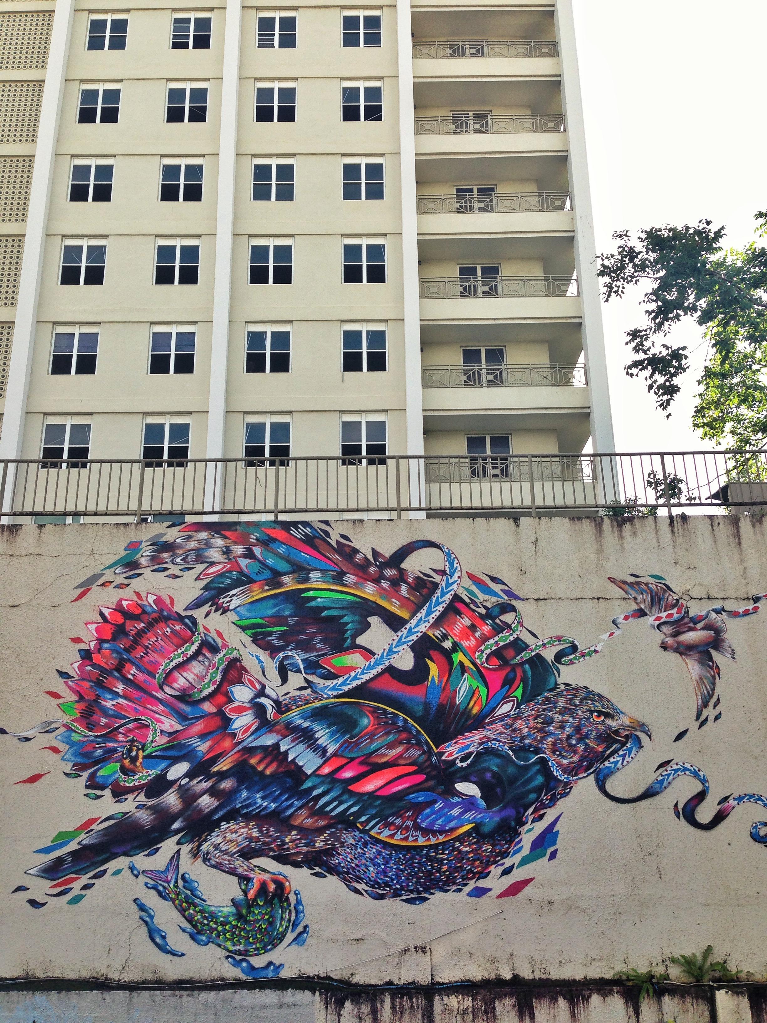 Large scale mural. San Juan (santurce). Puerto Rico 2013.  Yatika Starr Fields