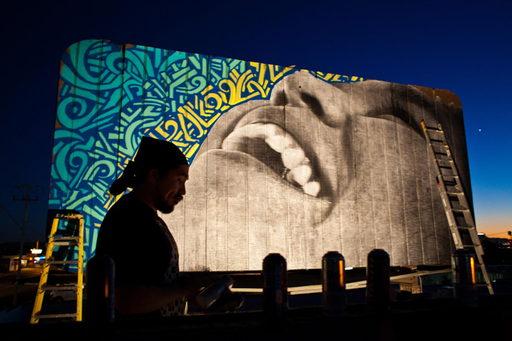BREEZE mural collaboration. Photo Credit: Chip Thomas