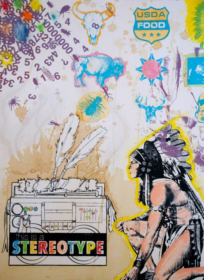 One of a kind prints were made by  BAD ART printing  in South Dakota for This Is A Stereotype project.
