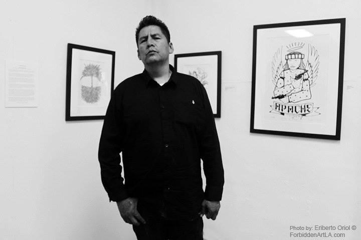 Douglas Miles:Artist, activist and creator of Apache Skateboards.  Photo Credit:Eriberto Oriol