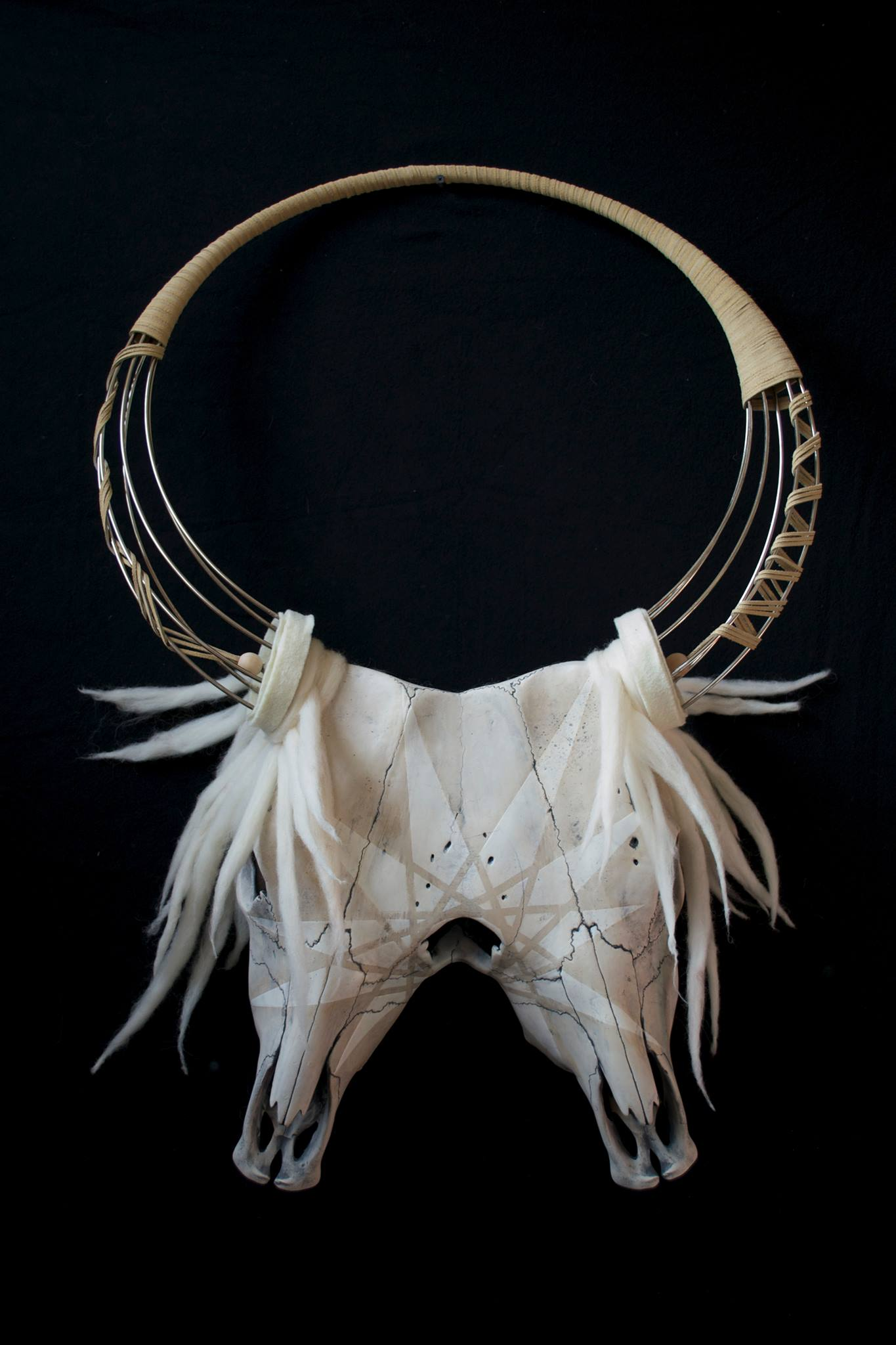 'The Unicorn',Ceramic, Steel, Wool. Cannupa Hanska