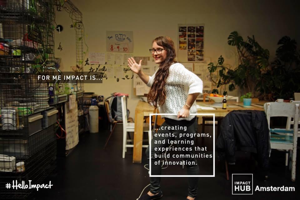 Lauren Higgins with  Impact Hub Global